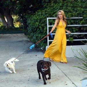 Gypsy 05 Organic Maxi Dress in Yellow Sz S